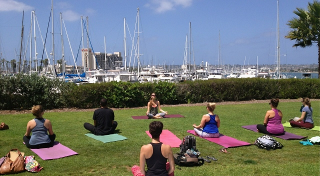 Yoga at the Sheraton
