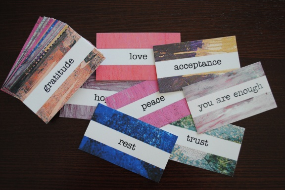 Intention cards for yoga practice