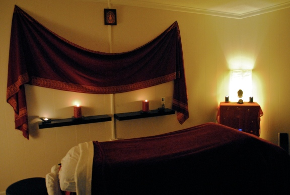Massage Room at Yoga One, photo credit: Laura McCorry