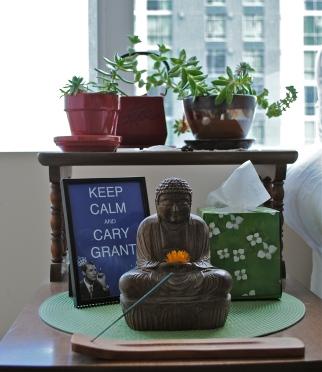 tiny apartment meditation