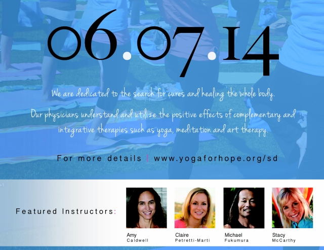Yoga for Hope Amy Caldwell Poster2