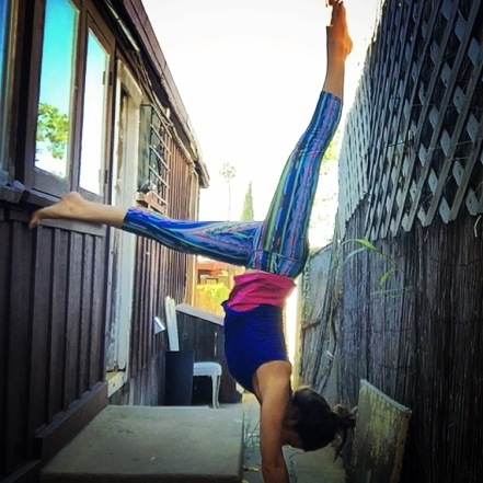 Olivia handstand