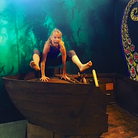 Yoga at the San Diego Museum of Man