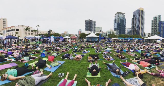 Festival of Yoga, downtown San Diego